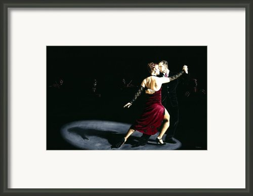 The Rhythm Of Tango Framed Print By Richard Young
