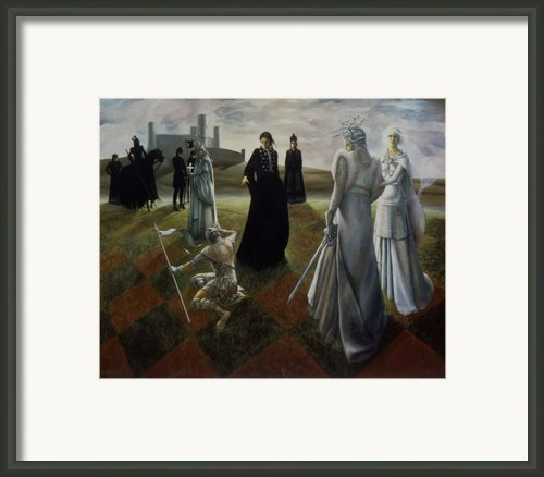 The Ringer Framed Print By Jane Whiting Chrzanoska