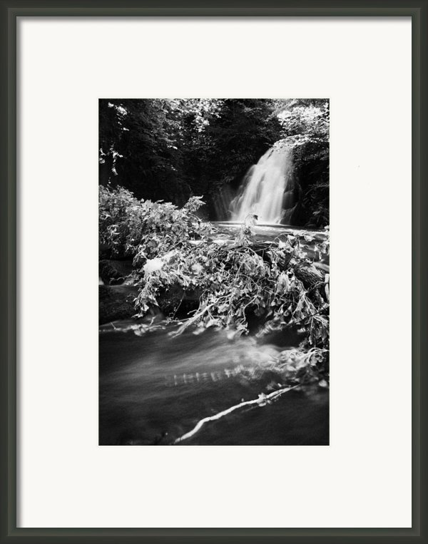 The River At The Gleno Or Glenoe Waterfall Beauty Spot County Antrim Framed Print By Joe Fox