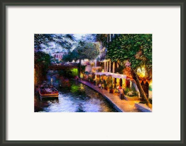 The River Walk Framed Print By Lisa  Spencer
