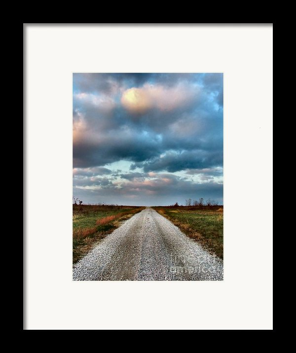 The Road To Somewhere Framed Print By Julie Dant