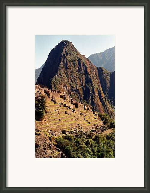 The Ruins Of Machu Picchu, Peru, Latin America Framed Print By Brian Caissie