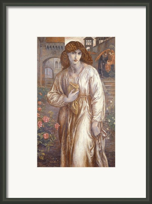 The Salutation  Framed Print By Dante Charles Gabriel Rossetti