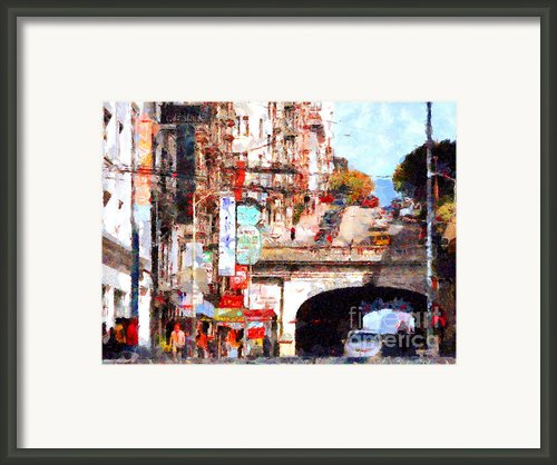 The San Francisco Stockton Street Tunnel . 7d7355 Framed Print By Wingsdomain Art And Photography