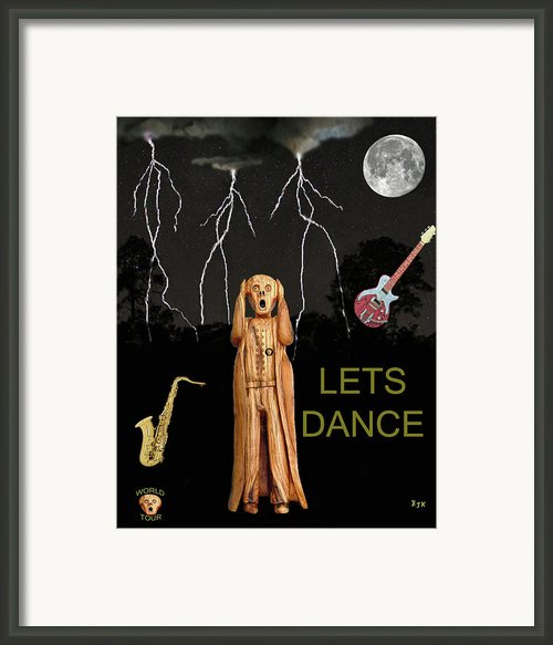 The Scream World Tour  Scream Rocks Lets Dance Framed Print By Eric Kempson