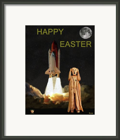 The Scream World Tour Space Shuttle Happy Easter Framed Print By Eric Kempson