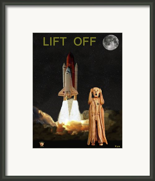 The Scream World Tour Space Shuttle Lift Off Framed Print By Eric Kempson