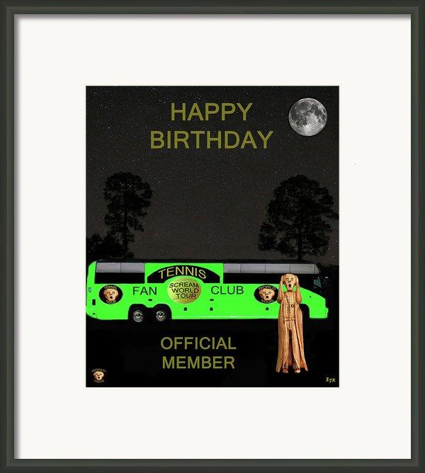 The Scream World Tour Tennis Tour Bus Happy Birthday Framed Print By Eric Kempson
