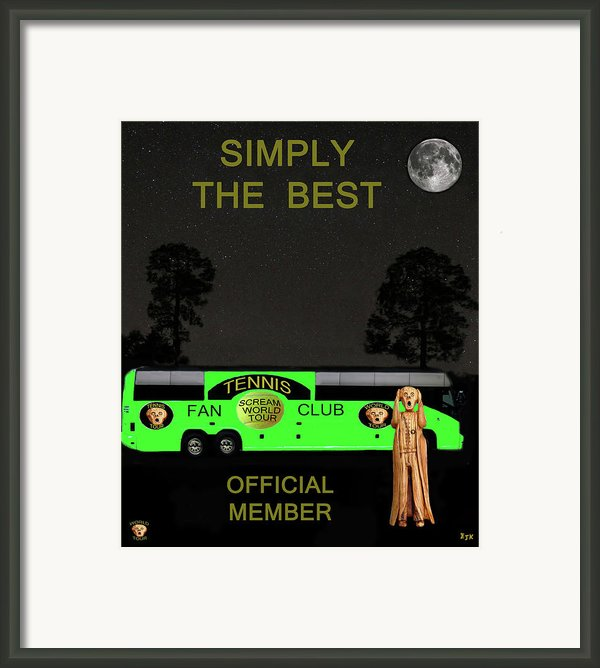 The Scream World Tour Tennis Tour Bus Simply The Best Framed Print By Eric Kempson