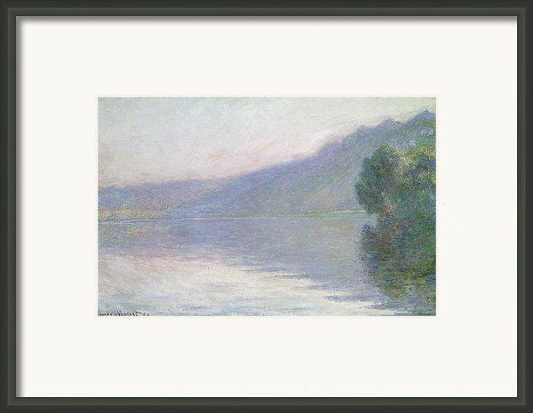 The Seine At Port Villez Framed Print By Claude Monet