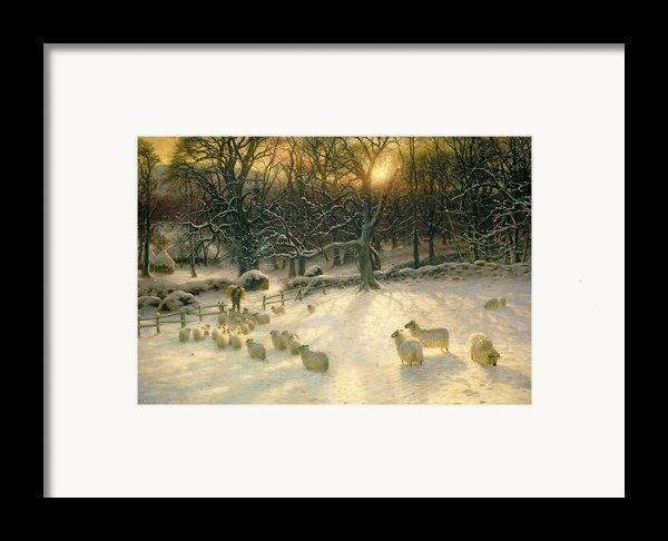 The Shortening Winters Day Is Near A Close Framed Print By Joseph Farquharson