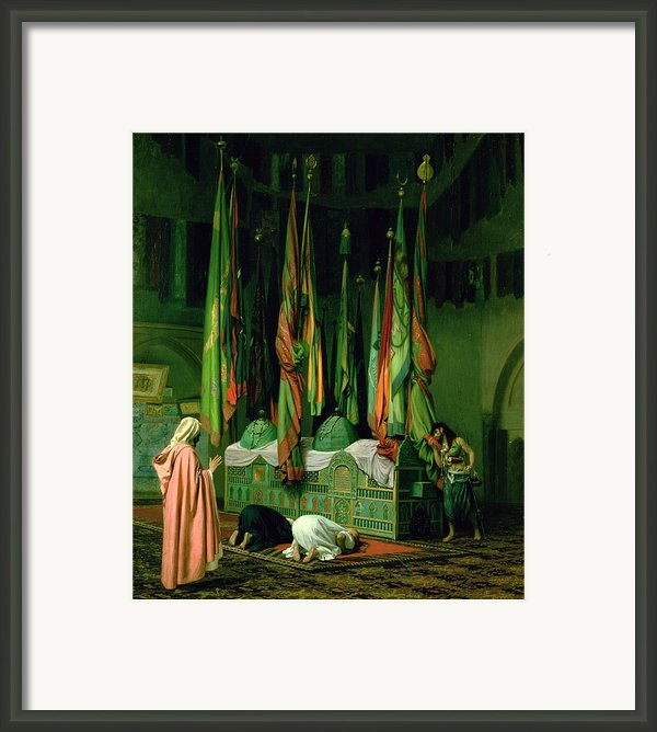 The Shrine Of Imam Hussein Framed Print By Jean Leon Gerome