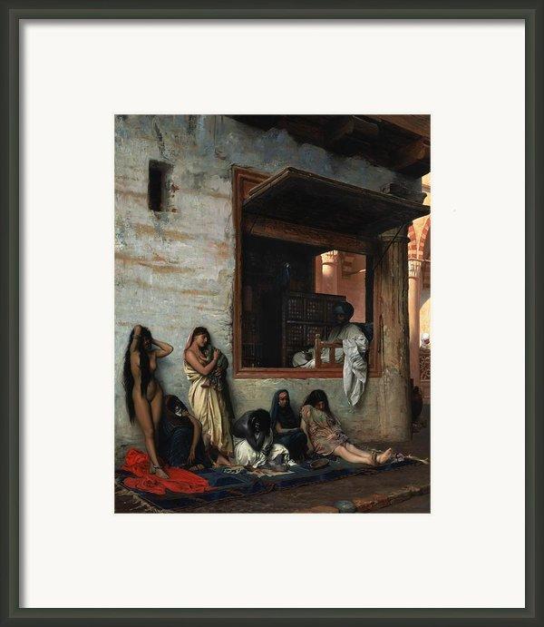 The Slave Market Framed Print By Jean Leon Gerome