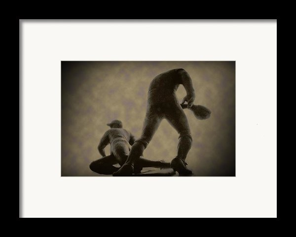 The Slide - Kick Up Some Dust Framed Print By Bill Cannon