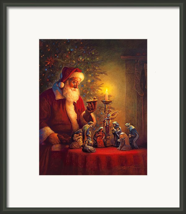 The Spirit Of Christmas Framed Print By Greg Olsen