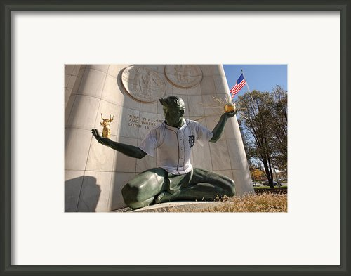 The Spirit Of Detroit Tigers Framed Print By Gordon Dean Ii
