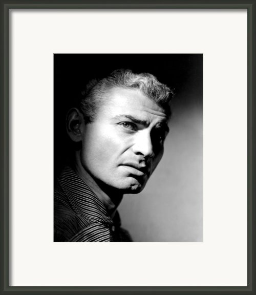 The Spoilers, Jeff Chandler, 1955 Framed Print By Everett