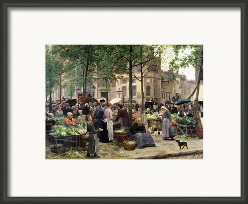 The Square In Front Of Les Halles Framed Print By Victor Gabriel Gilbert