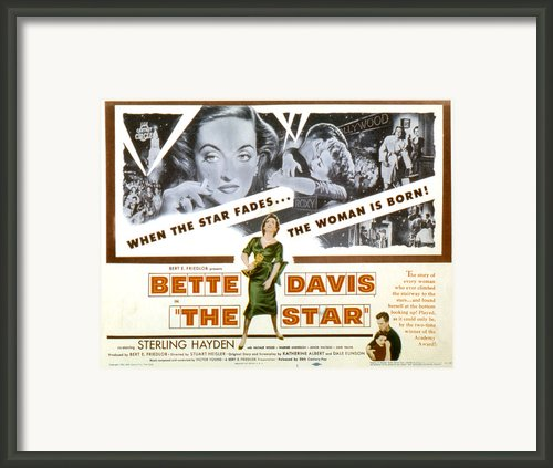 The Star, Bette Davis, Sterling Hayden Framed Print By Everett