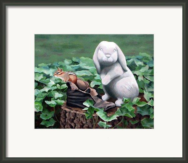 The Stone Rabbit Framed Print By Sandra Chase