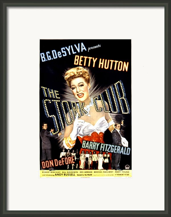 The Stork Club, Don Defore, Betty Framed Print By Everett