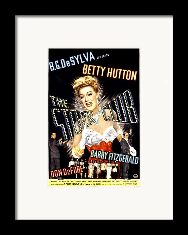 The Stork Club, Don Defore, Betty Framed Print By Everett
