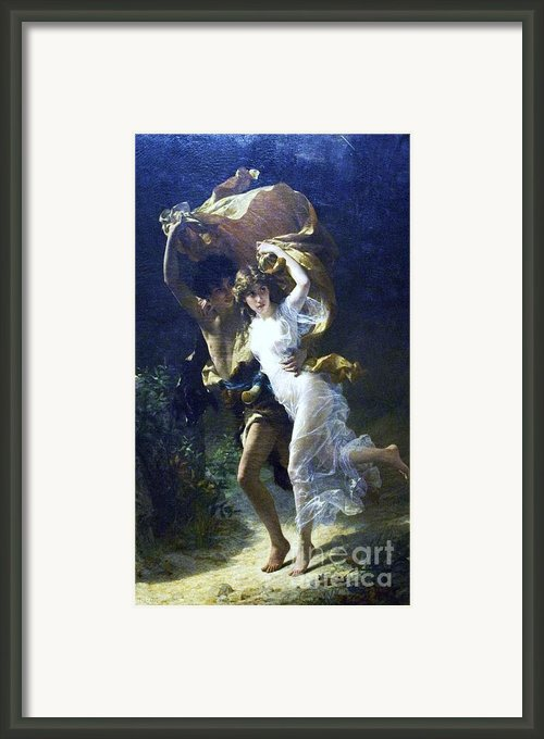 The Storm Framed Print By Pg Reproductions