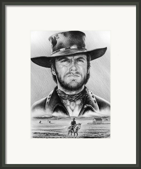 The Stranger Bw 2 Version Framed Print By Andrew Read