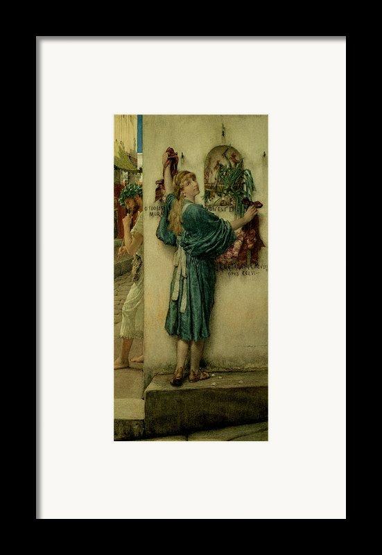 The Street Altar Framed Print By Sir Lawrence Alma-tadema