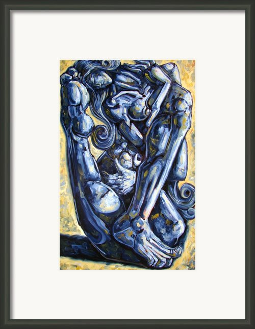 The Struggle Framed Print By Darwin Leon