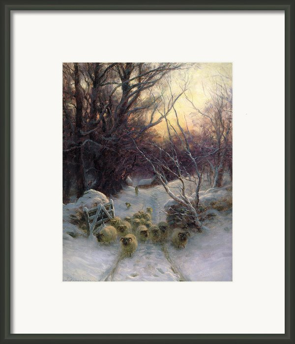 The Sun Had Closed The Winter Day Framed Print By Joseph Farquharson
