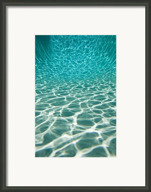 The Sun Is Reflected In Patterns Framed Print By Tim Laman