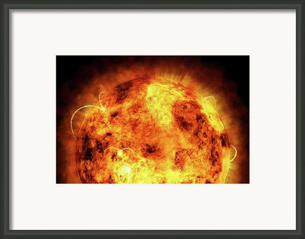 The Sun Framed Print By Michael Tompsett