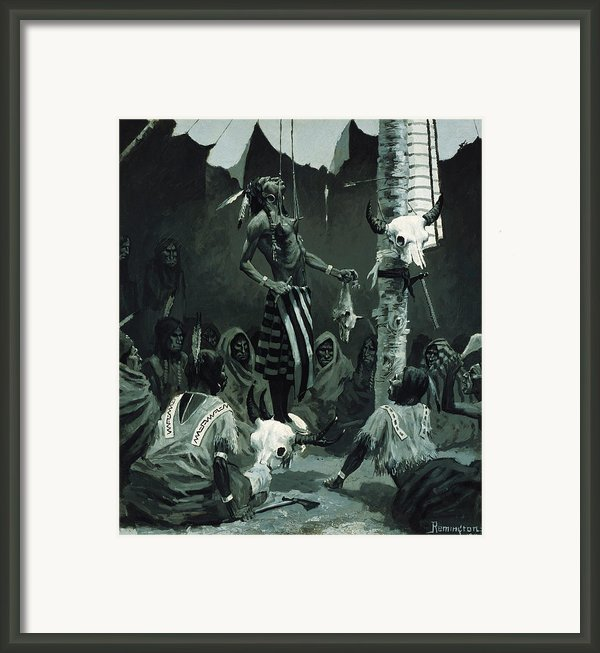 The Sundance Framed Print By Frederic Remington