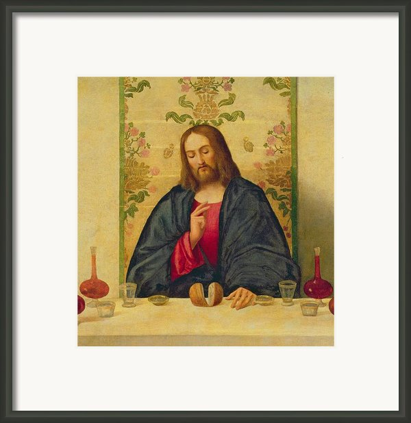 The Supper At Emmaus Framed Print By Vincenzo Di Biaio Catena