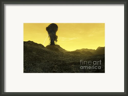 The Surface Of An Infernal Planet Framed Print By Fahad Sulehria