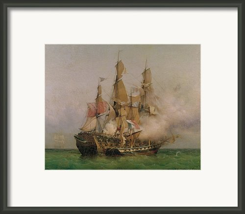 The Taking Of The Kent Framed Print By Ambroise Louis Garneray