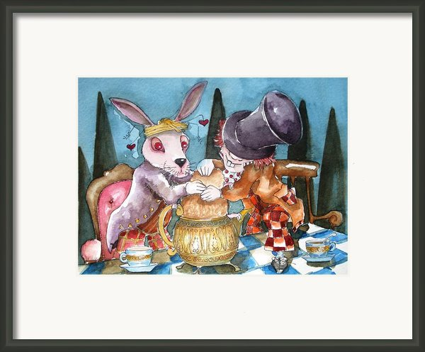 The Tea Party Framed Print By Lucia Stewart