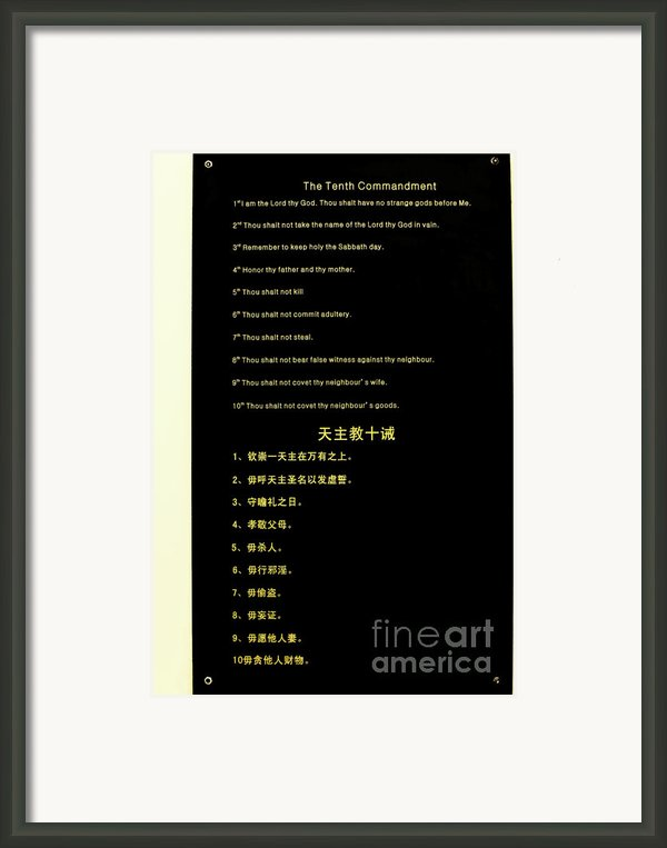 The Ten Commandments Framed Print By Christine Till
