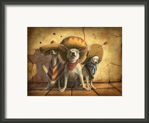 The Three Banditos Framed Print By Sean Odaniels