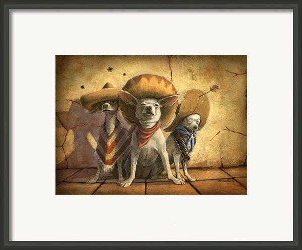 The Three Banditos Framed Print By Sean Odaniels