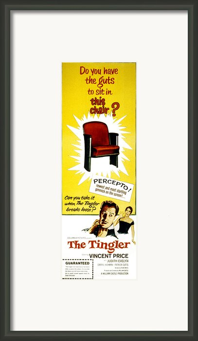 The Tingler, Vincent Price, Patricia Framed Print By Everett