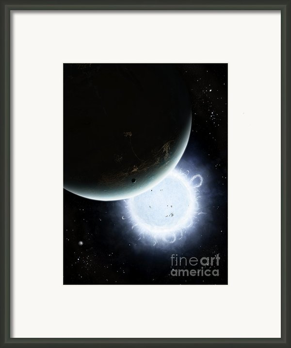 The Tiny Moon Rakka Ume Travels Framed Print By Brian Christensen