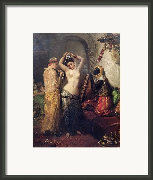 The Toilet In The Seraglio Framed Print By Theodore Chasseriau