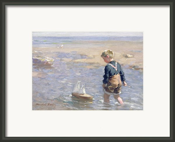 The Toy Boat Framed Print By William Marshall Brown