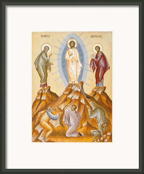 The Transfiguration Of Christ Framed Print By Julia Bridget Hayes