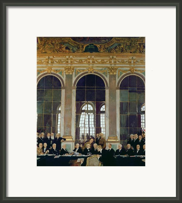 The Treaty Of Versailles Framed Print By Sir William Orpen