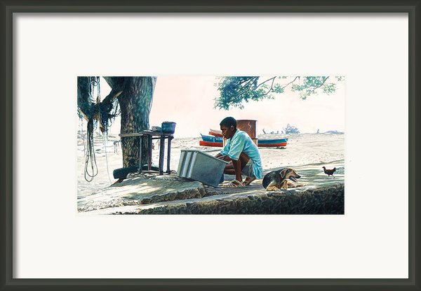 The Tree Shade Framed Print By Gregory Jules