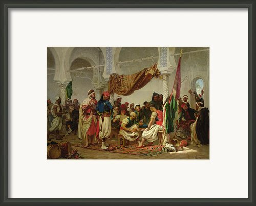 The Turkish Cafe Framed Print By Charles Marie Lhuillier