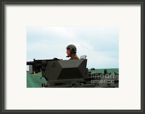 The Turret Of A Pandur Wheeled Armoured Framed Print By Luc De Jaeger